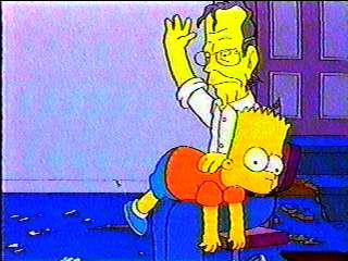 Bart milhouse spank